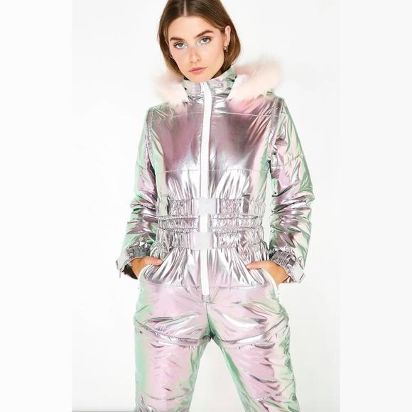 452f6c19e Dolls Kill Jackets & Coats   Aurora Beam Holographic Snowsuit   Poshmark